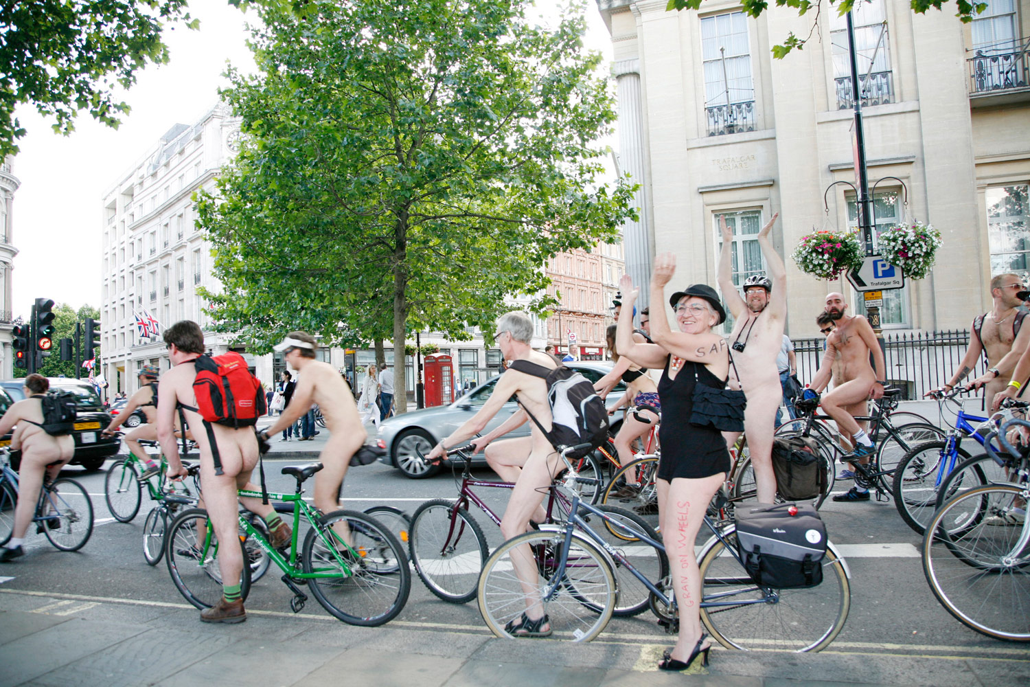 And then the naked cyclists turned up, of course. I love London!