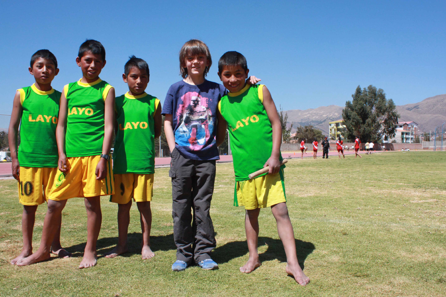 Luis and the relay team.