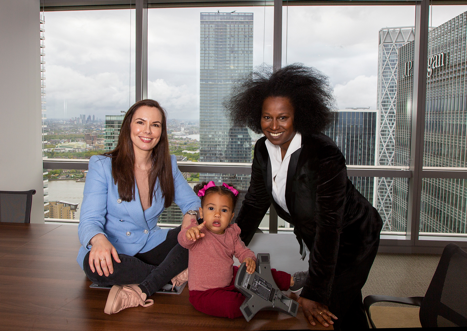 Carla Matthews (right) and Family - partner at Begbies Traynor Group